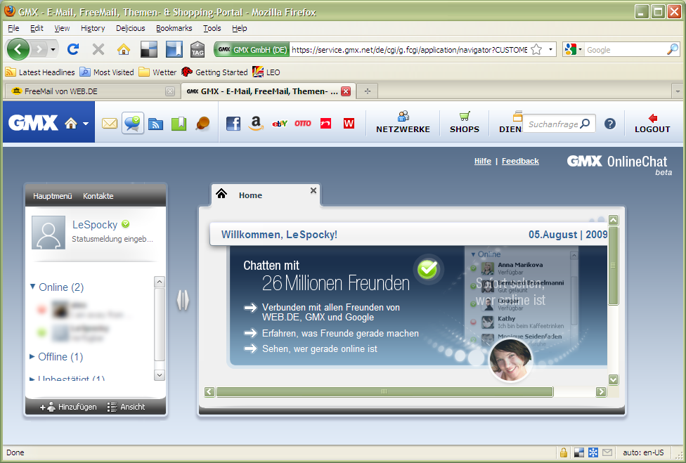 gmx online chat